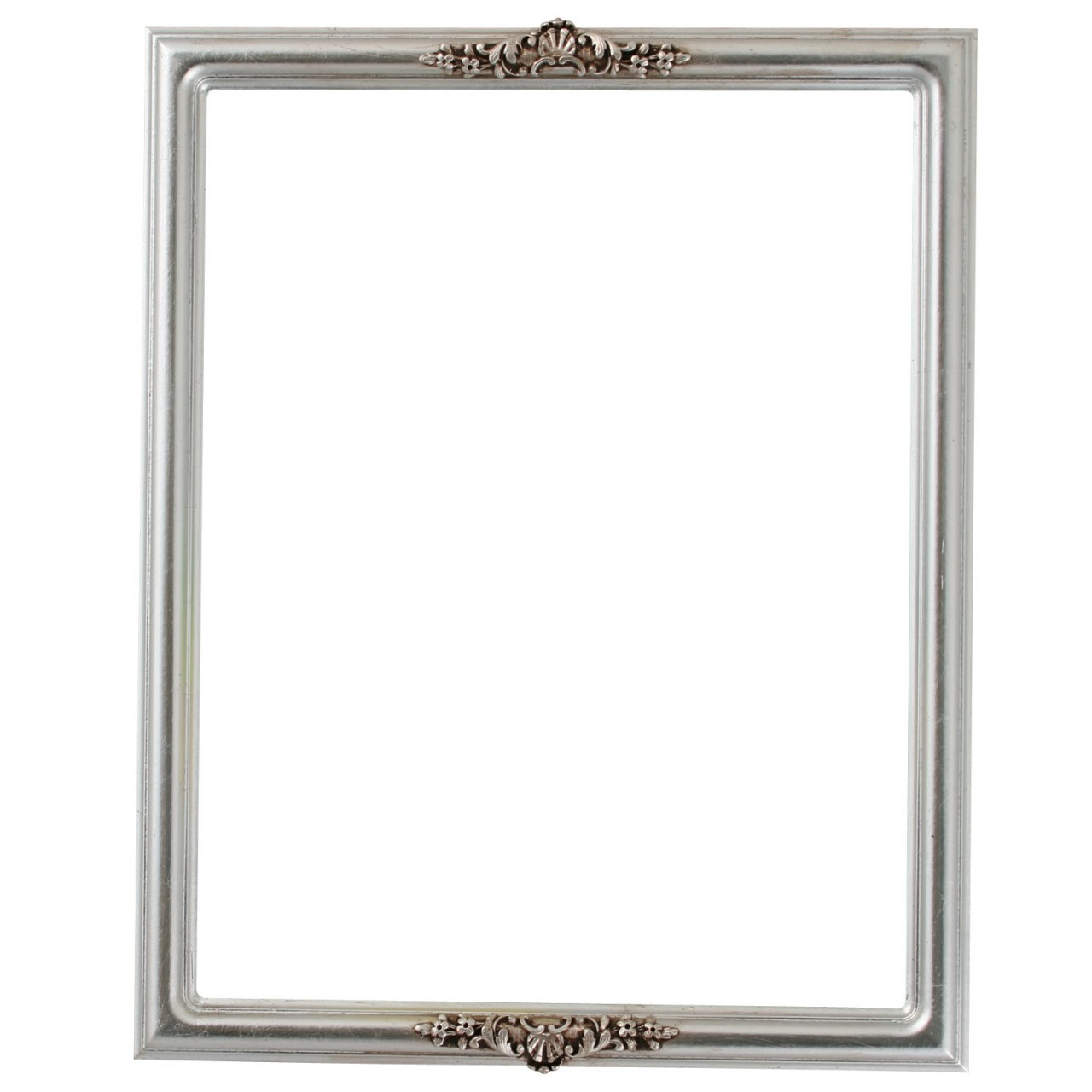 Rectangle Frame in Silver Leaf Finish with Brown Antique ...
