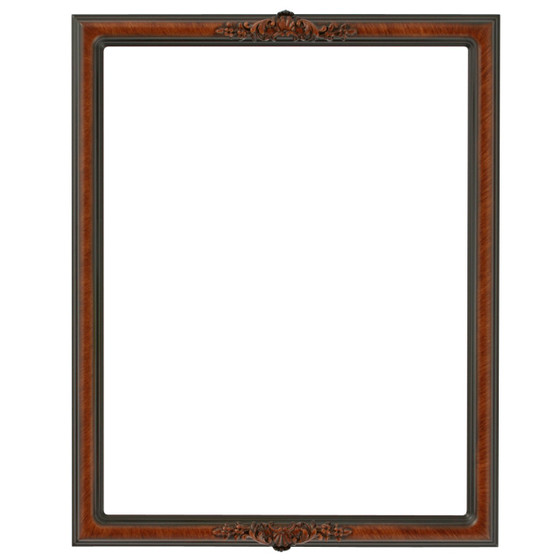 antique wood picture frames. Rectangle Frame In Vintage Walnut Finish| Antique Stripping On Brown Wooden Picture Frames With Ornate Decorations Wood U