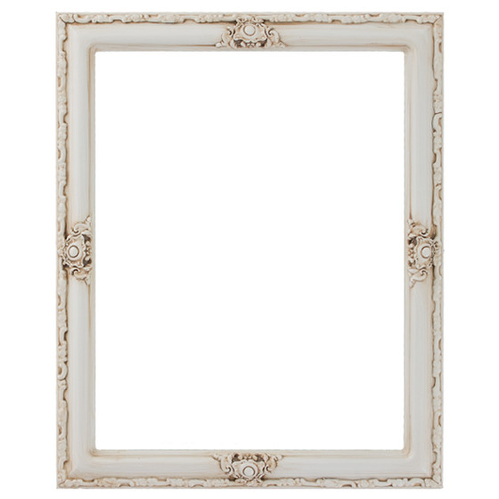 Rectangle Frame in Antique White Finish| White Picture Frames with ...