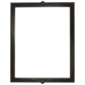 Athena Rectangle Frame # 811 - Black Silver