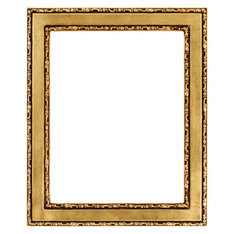 Monticello Rectangle Frame # 822 - Gold Leaf