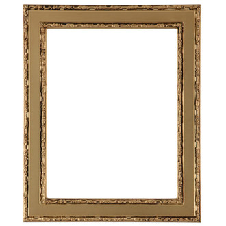 Monticello Rectangle Frame # 822 - Gold Spray