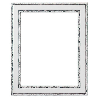 Monticello Rectangle Frame # 822 - Linen White