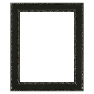 Monticello Rectangle Frame # 822 - Matte Black