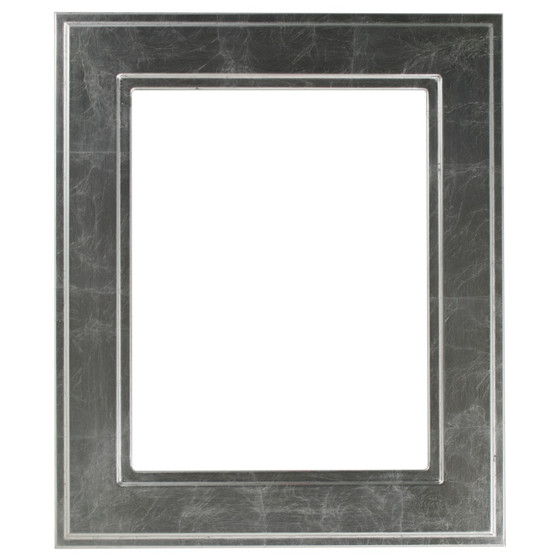 Rectangle Frame in Silver Leaf Finish with Black Antique| Wide ...