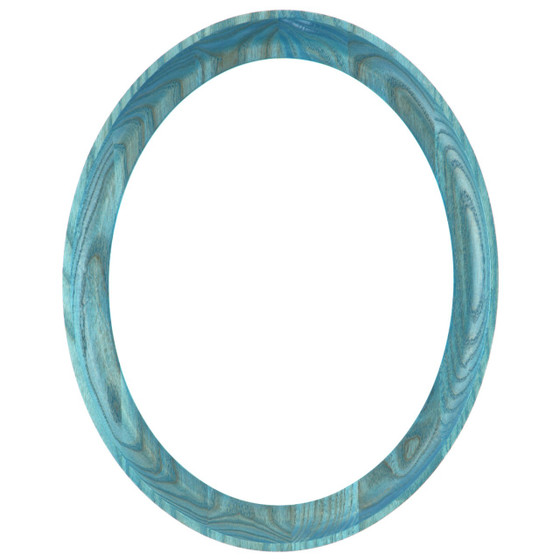 Oval Frame In Wedgewood Blue Finish Solid Oak Picture Frames