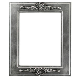 Ramino Rectangle Frame # 831 - Silver Leaf with Black Antique