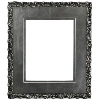 Williamsburg Rectangle Frame # 844 - Silver Leaf with Black Antique