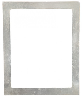 Manhattan Rectangle Frame # 851 - Silver Leaf with Brown Antique
