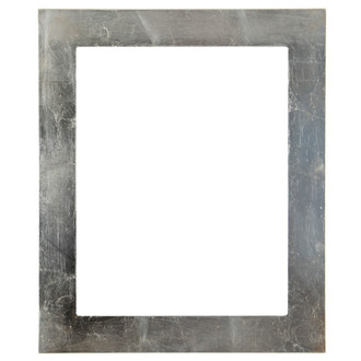 Soho Rectangle Frame # 852 - Silver Leaf with Brown Antique