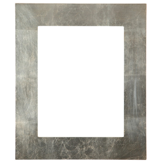Rectangle Frame in Silver Leaf Finish with Brown Antique| Flat ...