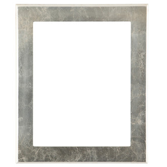 Avenue Rectangle Frame # 862 - Silver Leaf with Brown Antique