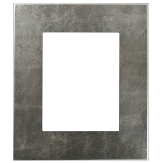 Boulevard Rectangle Frame #864 - Silver Leaf with Brown Antique