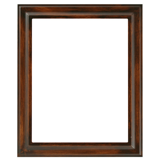 Rectangle Frame In Mocha Finish Vintage Brown Picture