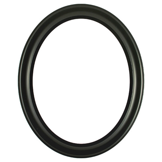 Oval Frame in Matte Black Finish Antique Black Picture Frames