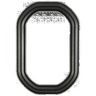 Philadelphia #460 Octagon Frame - Black Silver