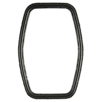 Virginia Hexagon Frame #553 - Black Silver