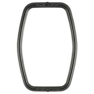 Contessa Hexagon Frame #554 - Black SIlver