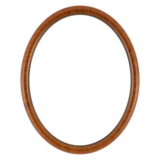 Pasadena Oval Frame # 250 - Vintage Walnut