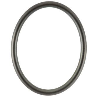 Pasadena Oval Frame # 250 - Black Silver