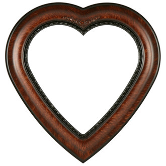 Boston Heart Frame #457 - Vintage Walnut