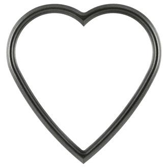 Saratoga Heart Frame #550 - Black Silver