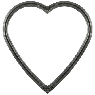 Contessa Heart Frame #554 - Black Silver