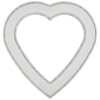 Paris Heart Frame - #832 Linen White