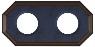 Double Plate Frame - #352 - Rosewoood with Blue Velvet