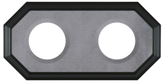 Double Plate Frame #352 - Matte Black with Grey Velvet