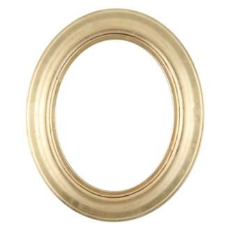 Lancaster Oval Frame # 450 - Gold Leaf