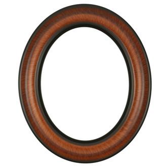 Lancaster Oval Frame # 450 - Vintage Walnut