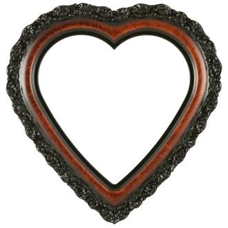 Venice Heart Frame #454 - Vintage Walnut
