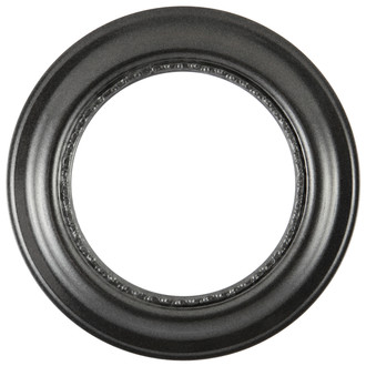 Chicago Round Frame #456 - Black Silver