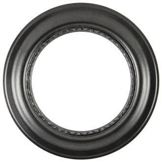 Chicago Round Frame #456 - Black Silver