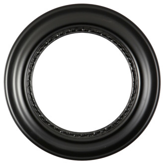 Chicago Round Frame #456 - Matte Black
