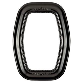 Boston Hexagon Frame #457 - Gloss Black