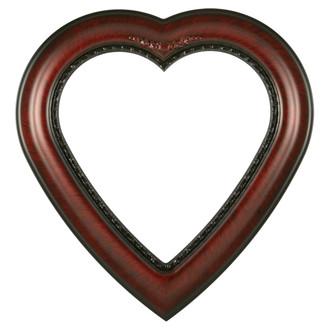 Boston Heart Frame #457 - Vintage Cherry