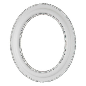 Somerset Oval Frame # 452 - Linen White