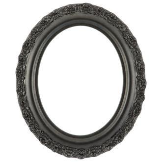 Venice Oval Frame # 454 - Black Silver