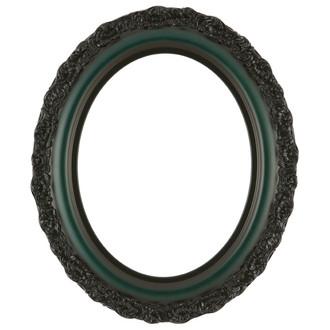 Venice Oval Frame # 454 - Hunter Green