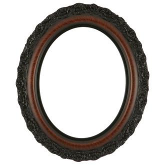 venice oval frame 454 vintage walnut