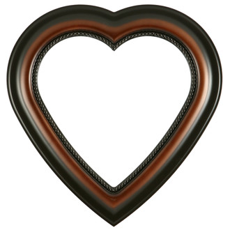 Heritage Heart Frame #458 - Walnut