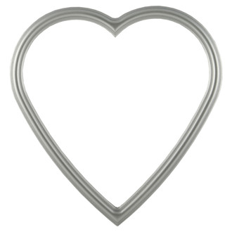 Saratoga Heart Frame #550 - Silver Spray