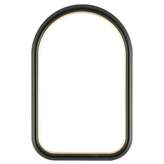 Hamilton Cathedral Frame #551 - Matte Black with Gold Lip
