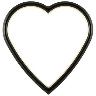 Hamilton Heart Frame #551 - Matte Black with Gold Lip