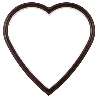 Hamilton Heart Frame #551 - Vintage Cherry with Silver Lip