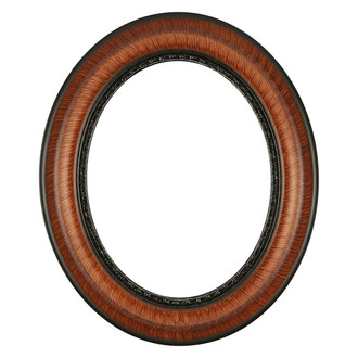 Chicago Oval Frame # 456 - Vintage Walnut