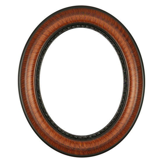 chicago oval frame 456 vintage walnut