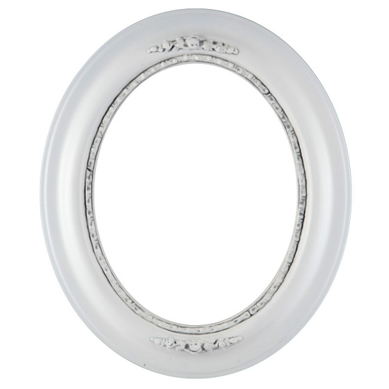 Oval Frame in Linen White Finish| Antique White Picture Frames with ...